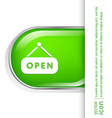 open label sign symbol sign icon open vector image
