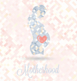 Pregnant Woman With Heart in Belly vector image