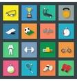 Sport flat icons set vector image