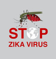 stop mosquito flat icon designlogo vector image