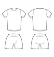 T-shirt and shorts Template for design Sample for vector image
