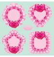 pillow pink set vector image