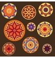 Ornament in country boho Style on the brown vector image