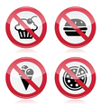 No fast food no sweets warning red sign vector image vector image