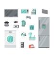 Home Appliances Set in Flat Design vector image vector image