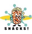 Retro Popcorn snacks vector image
