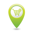 add to basket GREEN map pointer vector image