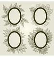 autumn leaf frames vector image vector image