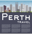 Perth skyline with grey buildings blue sky vector image vector image