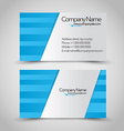 Business card set template Blue and silver grey vector image