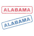 alabama textile stamps vector image