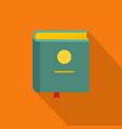 book encyclopedia icon flat style vector image