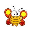 Fat butterfly cartoon vector image