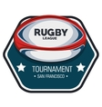 rugby league tournament label design vector image