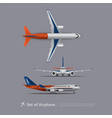 set of airplane isolated vector image