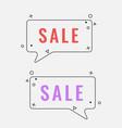 simple sale square speech bubbles with geometric vector image