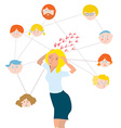 Stress about family members - vector image