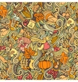 Thanksgiving autumn symbols food and drinks vector image