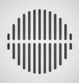 Vintage style audio dinamic vector image