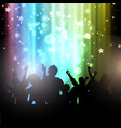 party people on bokeh lights background vector image vector image