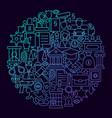 law line icon circle concept vector image