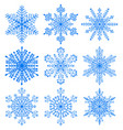 set of christmas snowflakes vector image vector image