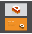 business card letter D vector image vector image