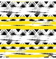 seamless ethnic zigzag pattern with bold vector image