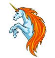 magic unicorn horse vector image vector image