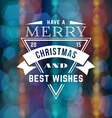Merry Christmas Badge with Triangle and Ribbon for vector image