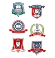 Academy university and college icons vector image vector image