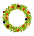 fir wreath vector image