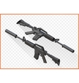 assault rifle m4a1 isometric vector image