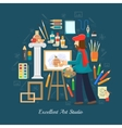 Artist Studio Concept vector image