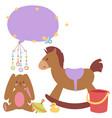 baby toys icons cartoon family kid toyshop design vector image