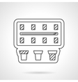 Blank paintbox flat line icon vector image