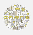 copywriting round colorful vector image