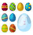easter eggs spring colorful celebration decoration vector image
