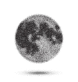 Halftone Moon Icon Tattoo Style Dotwork vector image