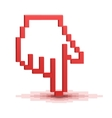 Pixel cursor hand pointer vector image