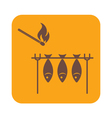 Grilled fish icon vector image