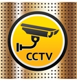 Video surveillance symbol on a golden background vector image