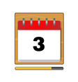 The third day in the calendar vector image