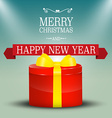 Merry Christmas Card Xmas Background New Year vector image