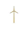 Windmill computer symbol vector image