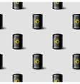 Black Metal Oil Barrels Seamless Pattern vector image
