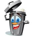funny wastebasket vector image