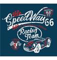 speedway kids racing team vector image vector image