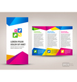 Brochure triangles colorful vector image