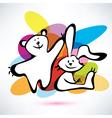 teddy bear and bunny icons cartoon style vector image